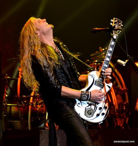 Joel Hoekstra, rock guitarist for Whitesnake, plays at Ruth Eckerd Hall in Clearwater, FL