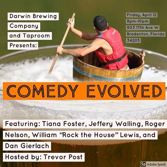 Darwin Brewing Company Presents: Comedy Evolved hosted by Trevor Post in Bradenton, FL