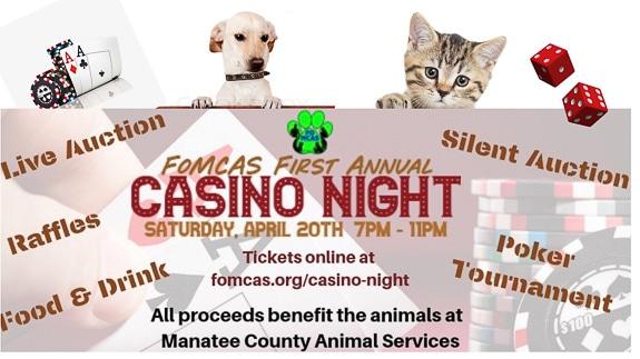 FoMCAS First Annual Casino Night at Manatee Performing Arts Center in Bradenton, FL
