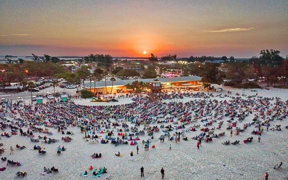 Easter Sunrise Service at Manatee Public Beach Holmes Beach, FL