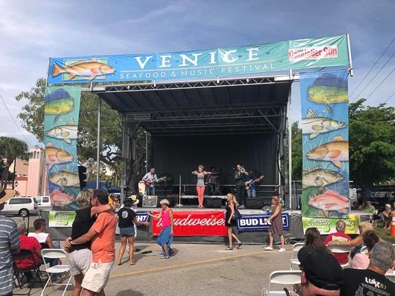 Venice Seafood Festival in Centennial Park Venice, FL