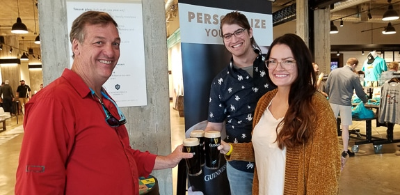 Bob Slicker and daughter Molly with her fiance Richard at Guinness Brewery in Baltimore, MD