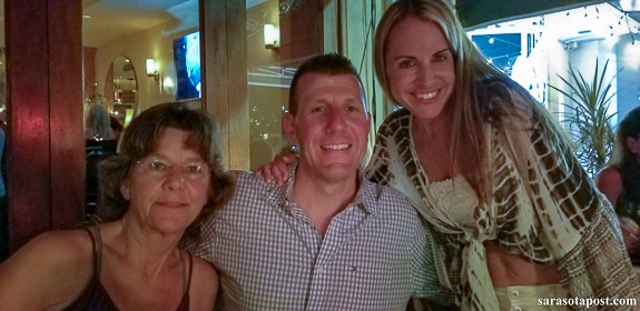 Laura, Rob and Lindsay at Tramonti in Delray Beach, FL