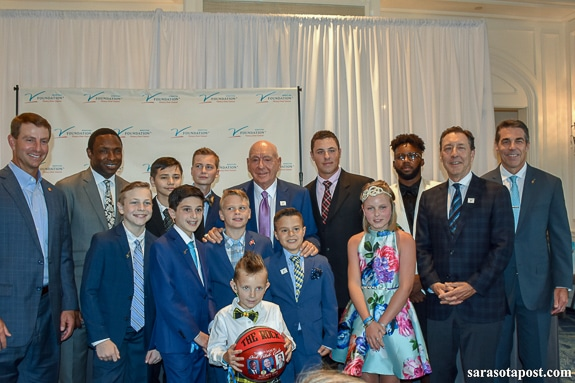 Families and survivors attended the Dick Vitale Charity event at the Ritz-Carlton in Sarasota, FL
