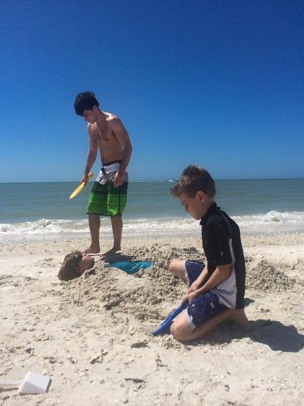 Having fun on the beach this summer!