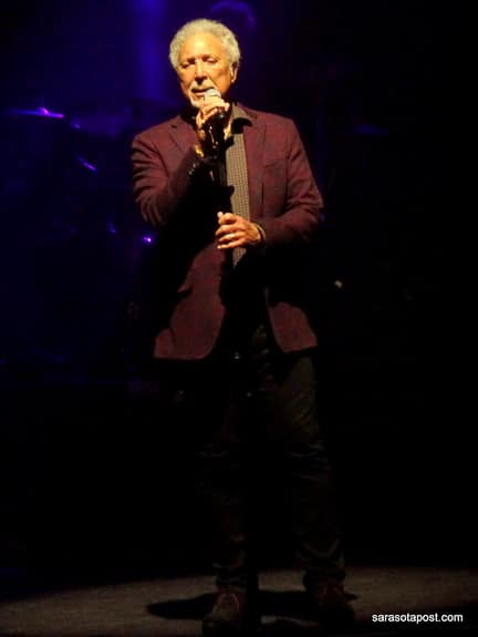 Tom Jones performed at Ruth Eckerd Hall in Clearwater, FL