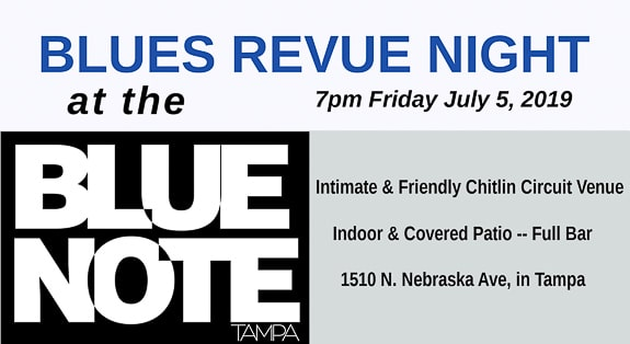 Blues Revue Night at the Blue Note in Tampa, FL