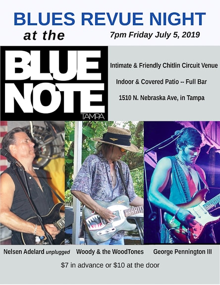 The Blue Note Bar in Tampa, FL is hosting a Blues Revue Night.