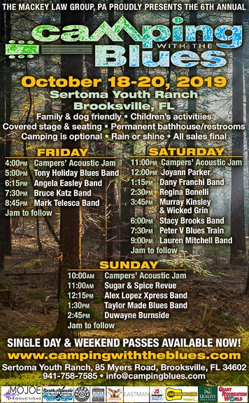 Camping With The Blues event at Sertoma Youth Ranch in Brooksville, FL