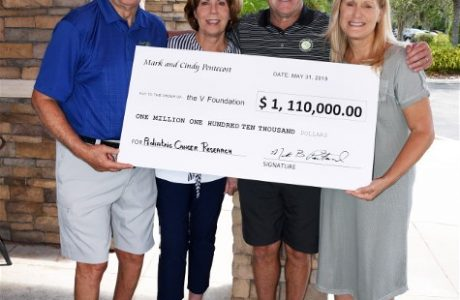 Dick Vitale receives $1,110,000 donation for pediatric cancer research from The Pentecost Foundation