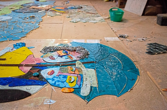 James Simon is making a mosaic mural for Bradenton, FL