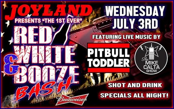 1st Annual Red White & Booze Bash at Joyland in Bradenton, FL