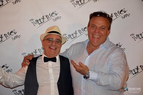 Maurizio Colucci and Sande Caplin at the Billy Rice Band video release party in La Pergola, Primo-Ristorante, Sarasota, FL