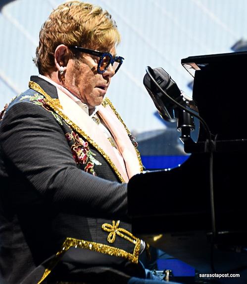 Elton John at Amalie Arena in Tampa, FL