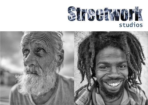Deep respect is shown to the homeless with beautiful photos displayed on the Streets of Paradise website.