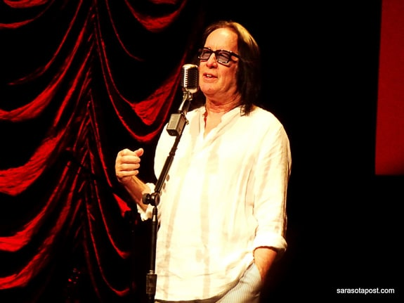 Todd Rundgren at the Mahaffey Theater in St. Pete, FL answers audience questions.