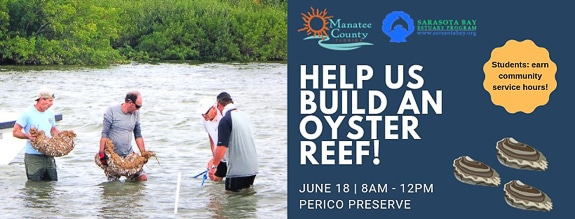 Build an Oyster Reef at Perico Preserve in Bradenton, FL