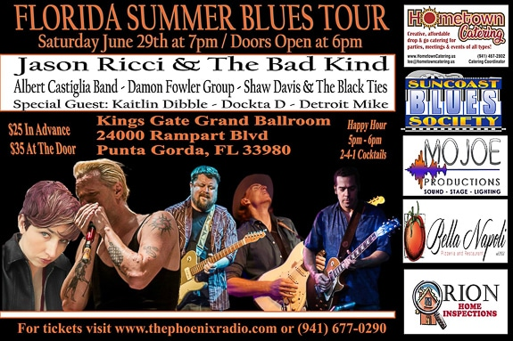 Florida Summer Blues Tour at Kings Gate Gold Club and the Lions Den Restaurant in Port Charlotte, FL