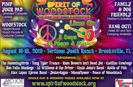 Spirit of Woodstock Lives On! Three Days of Peace & Music in Brooksville, FL