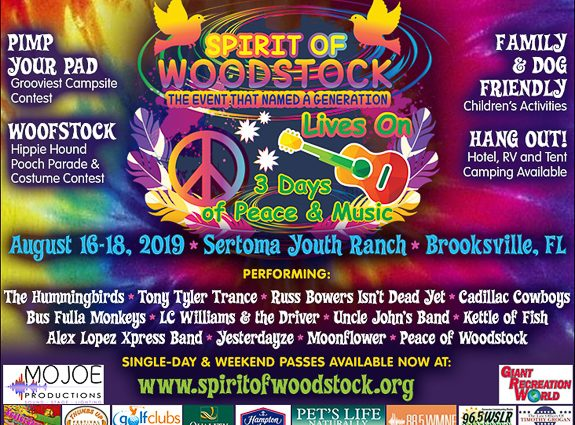 Spirit of Woodstock Lives On! Three Days of Peace & Music in Brooksville, FL