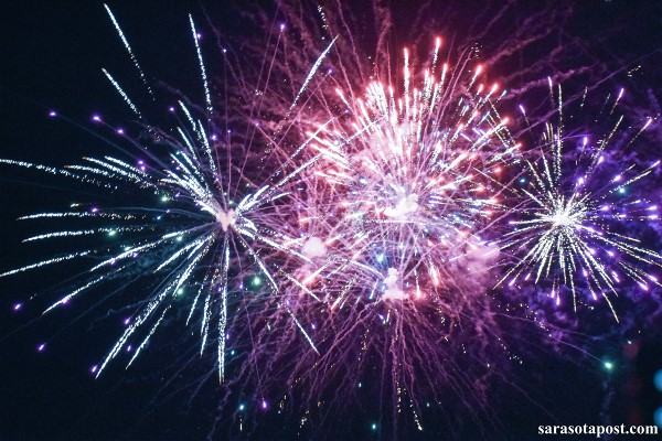 Fireworks at the Swordfish Grill & Tiki