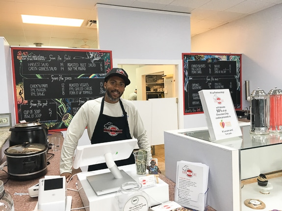 Dwight Spence, co-owner of Fork My Life vegan restaurant in Sarasota, FL