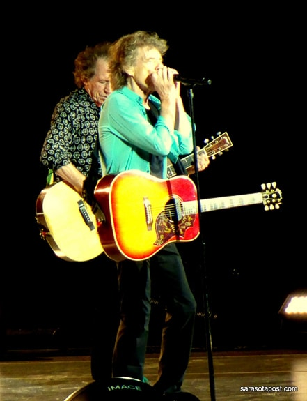 The Stones  play an acoustic set at TIAA Bank Field in Jacksonville, FL