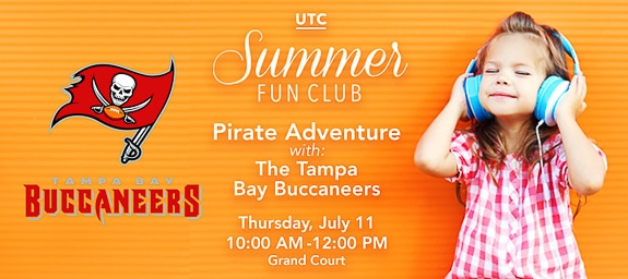 Summer Fun Club: Pirate Adventure with the Tampa Bay Buccaneers at The Mall at University Town Center – GRAND COURT in Sarasota, FL