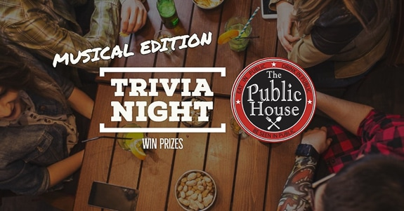 Musical Trivia ONE NIGHT ONLY at The Public House Tap and Grill in Sarasota, FL