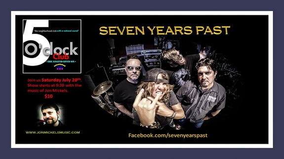 Kellys Live Presents: Seven Years Past at the Five O'Clock Club in Sarasota, FL