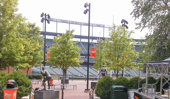 There are cool statues at the Yard in Baltimore.