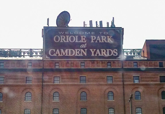 Camden Yards in Baltimore - home of The Orioles