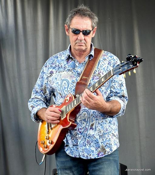 Greg Poulos plays guitar in Sarasota, FL