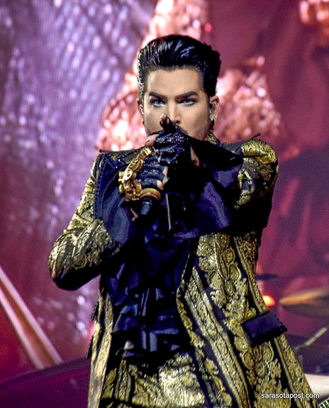 Adam Lambert with Queen at the Amalie Arena in Tampa, FL