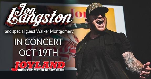 Jon Langston will perform at Joyland Country Music Nightclub in Bradenton, FL