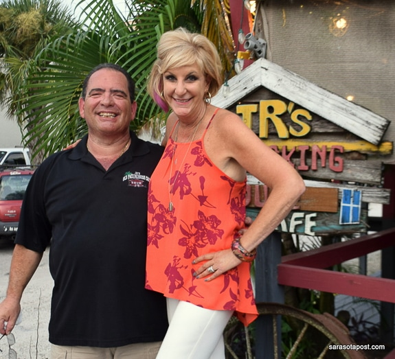 JR Garraus and Chef Judi celebrated at the 20th Anniversary Celebration of JR's Old Packinghouse Cafe in Sarasota, FL