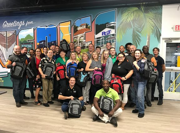 PGT Innovations' Team Members Assemble and Donate Backpacks for Local At-Risk Children