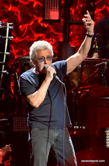 Roger Daltrey of The Who sang at Amalie Arena in Tampa, FL