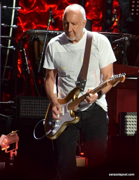 Pete Townshend of The Who performed at Amalie Arena in Tampa, FL