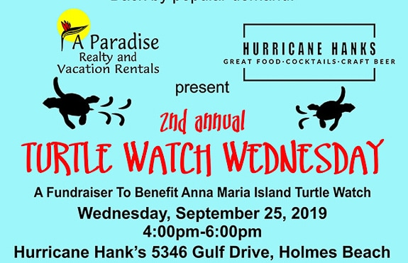 Second Annual Turtle Watch Wednesday at Hurricane Hanks on Anna Maria Island