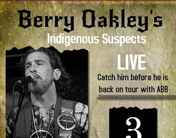 Berry Oakley's Indigenous Suspects at Stottlemyer's Smokehouse in Sarasota, FL