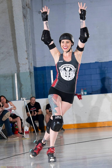 Sarah Bikos, AKA Dita Von Cheats, of the Bradentucky Bombers!