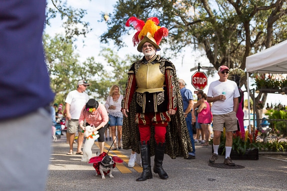 Howl'ween costume contest and parade on Old Main Street in Bradenton, FL