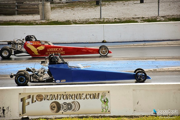 Jasmine Hamilton starting her race at Bradenton Motorsports Park