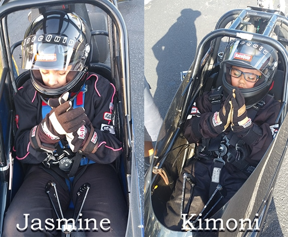 Jasmine and Kimoni pray before each race.