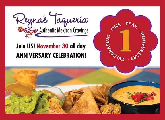 Reyna's Taqueria, In Sarasota, Celebrates First Anniversary