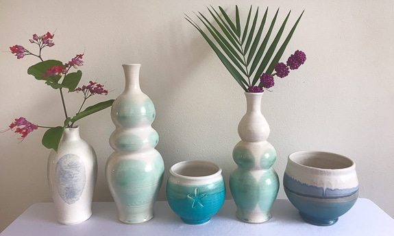 Beautiful pottery from Sarasota Green Pottery.