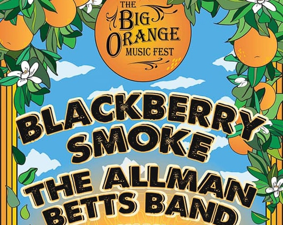 The Big Orange Festival in Punta Gorda, FL features Blackberry Smoke and The Allman Betts Band.