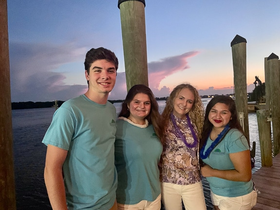 The author, Natasha Reisner, with 3 of the teen advocates from Healthy Teens Coalition.