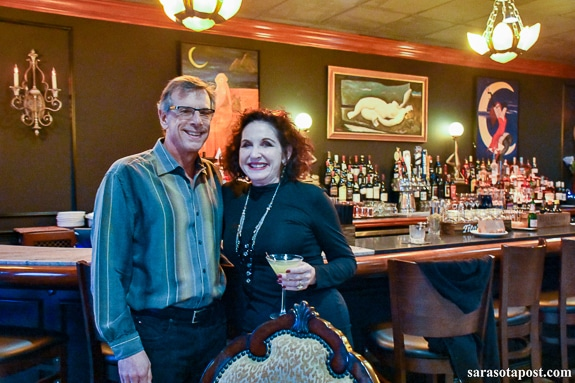 Kevin Skeist and Cindy Breslin at the opening of Blase Bistro & Martini Bar in Sarasota, FL